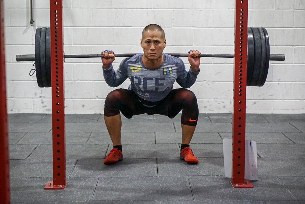 - 0-25 Minutes to Establish 1RM Squat1x5 at 50% rest 2 min1x5 at 60% rest 2 min1x3 at 70% rest 2 min1x1 at 80% rest 3 min1x1 at 90% rest 3 min1x1 at 100 or 102-105% rest 5 min1x1 at 2-5% more rest 5 minIf successful, 1x1 at 2-5% more or split the difference——————————3 Rounds for Time25 Pull-up50 Alternating Dumbbell Lunges (any style) (50/35)