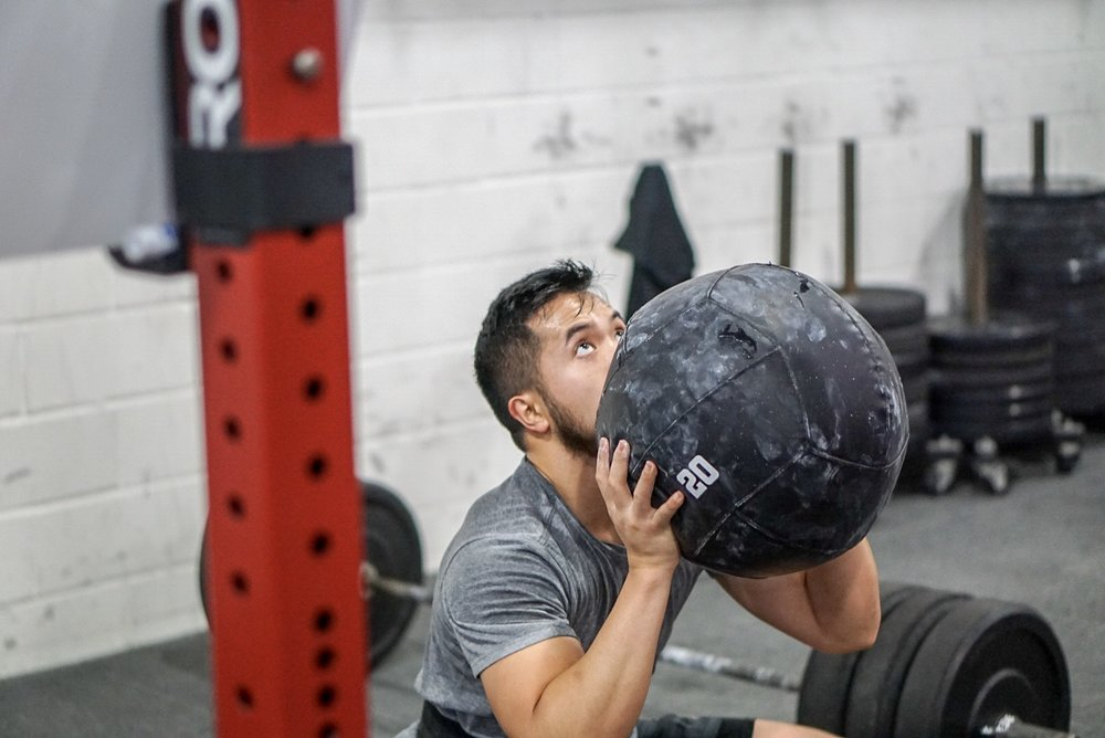 - 4 x 30 SecondSandbag March in Place (AHAP)——————————3 Rounds For Time25 Front Squat (115/75)3 15' Rope Climb35 Push Up*compare to August 27 2018