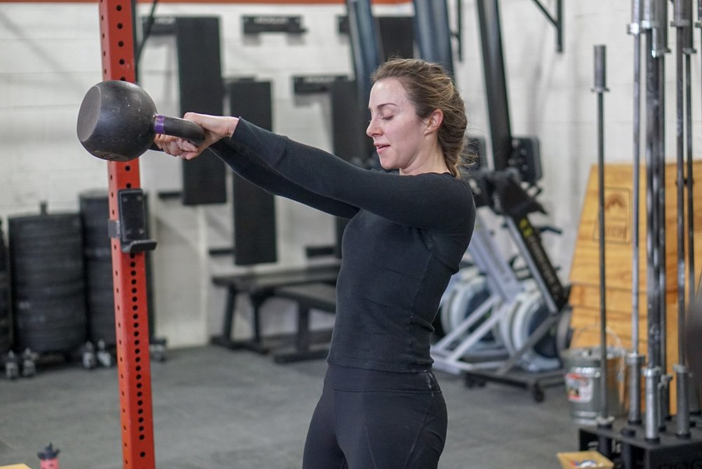 - Active Recovery Day6 Rounds of 30s ON / 30s OFFDumbbell Bench PressBox JumpSit UpCalorie RowKettlebell SwingsCrossFit Open Starts tomorrow, register today.