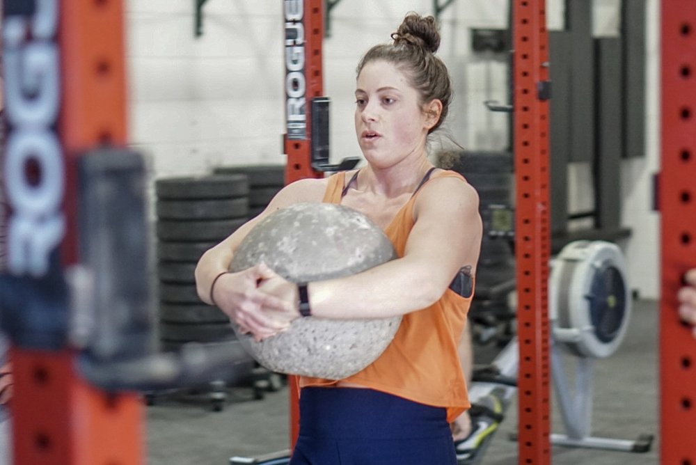 - 3 Rounds2 Front Squat (AHAP)50' Keg Carry10 Push-upRest 2 MinutesRepeat for 3 Rounds