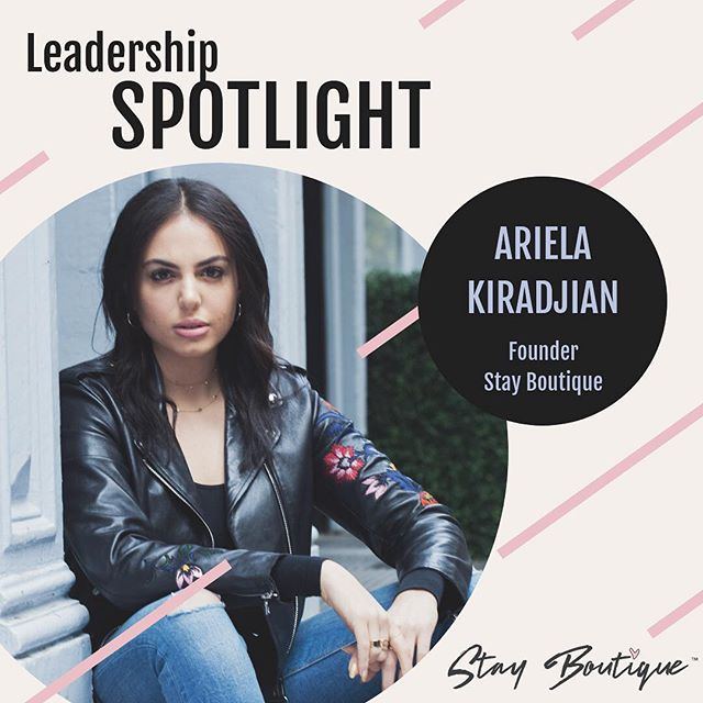 #LeadershipSpotlight @stayboutique_'s very own Founder, @arielakiradjian, has dedicated her life to the boutique community, and has done so from an early age! This trailblazer realized the power of #boutique, partnering with her mother, #FrancesKiradjian, as they both acknowledged and predicted the ongoing growth of #BoutiqueHotels and beyond! 😍💪