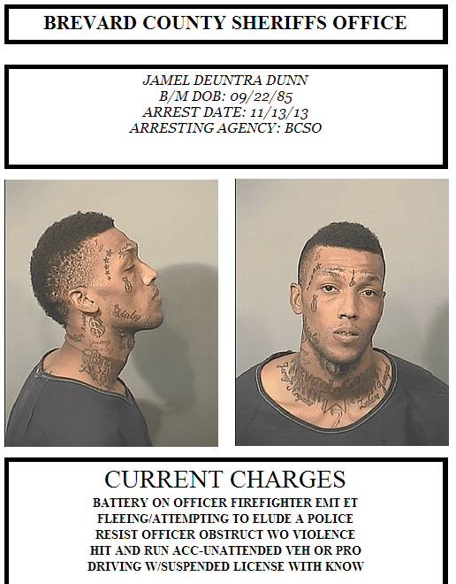 Jamal Dunn, 32 years old. Source: Brevard County Sheriff's Office