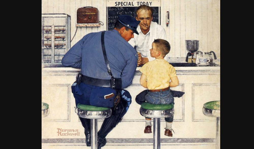 The Runaway, Normal Rockwell, 1958