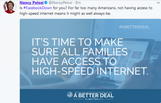 Because internet access is a human right or something.