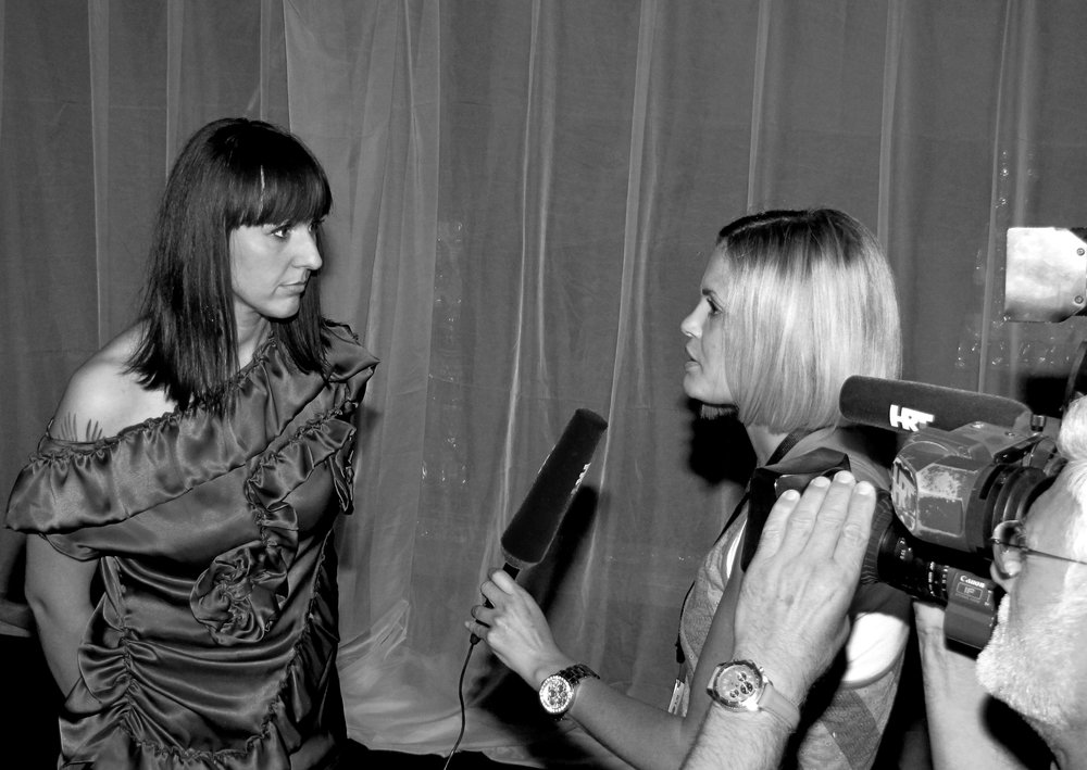 An interview after a successfull show on Fashion Week Zagreb