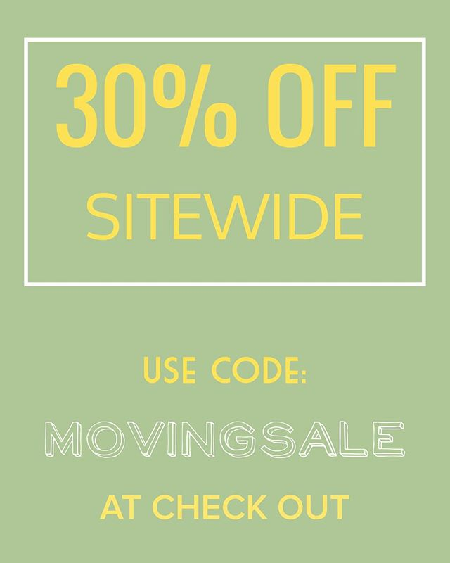 We are moving in one more week! If you want something get it now! Sale items are an additional 30% off! You can't beat that!👌🏻