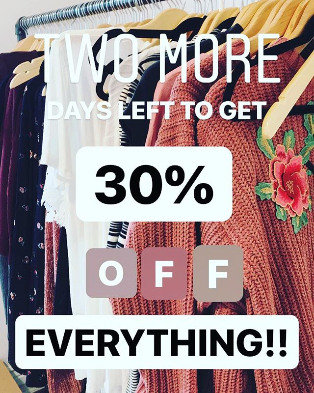 LAST CHANCE! Don't miss these amazing deals!! 30% off already marked down items!! Best sale we have ever done! Need everything gone! Plus if you spend $75 you get a FREE maxon tee!!!