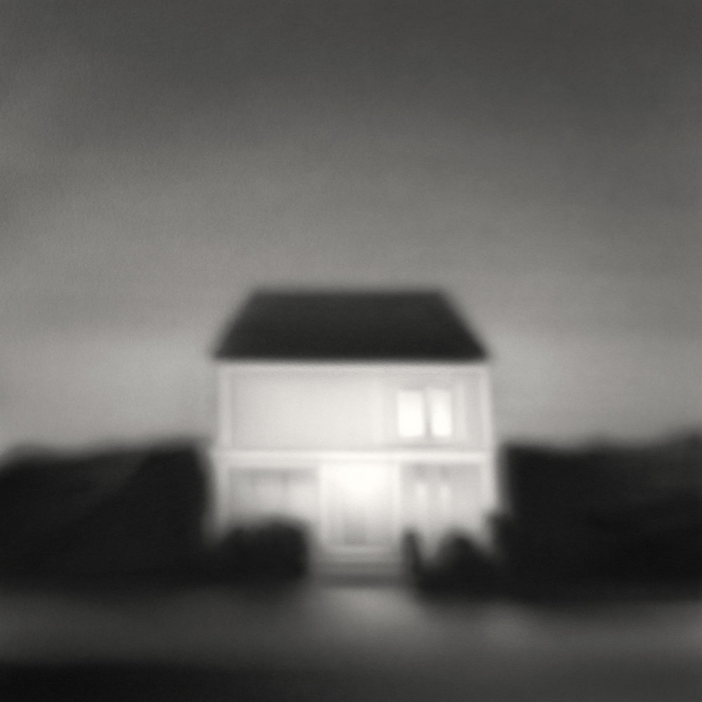 The liars house    acrylic painting on paper, 50 x 50 cms, 2018
