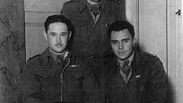 Lieutenant Bunty Preece on left during WW11