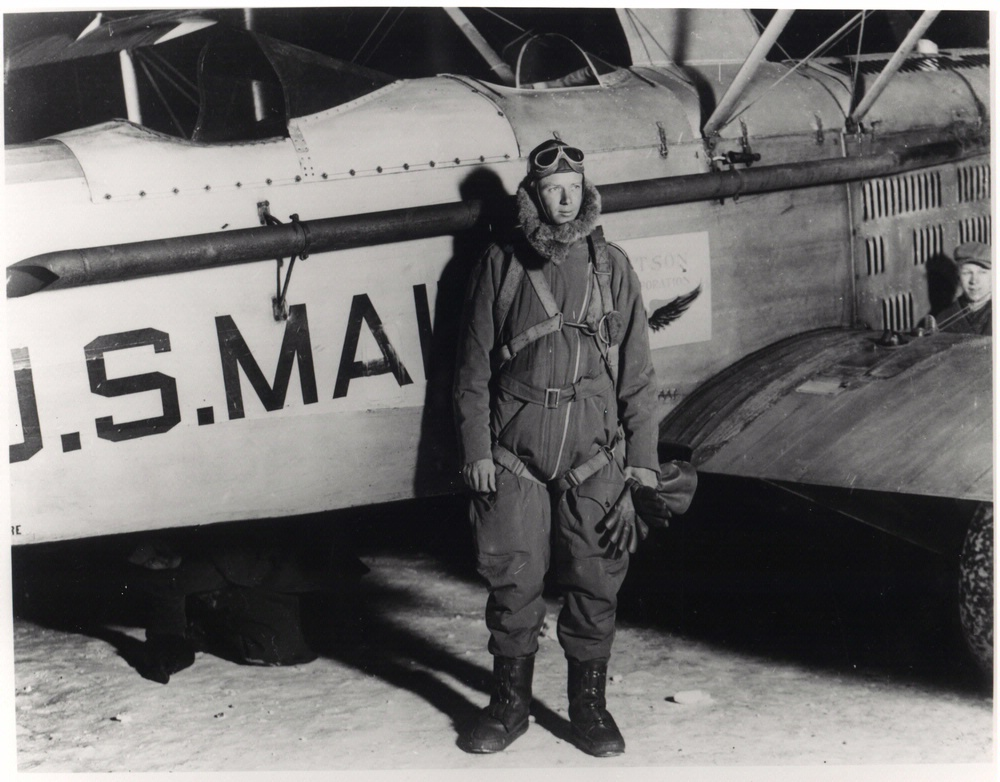 Charles Lindbergh had a career as an airmail pilot, before he tackled the Atlantic Ocean in 1927 courtesy of the  Smithsonian National Air and Space Museum