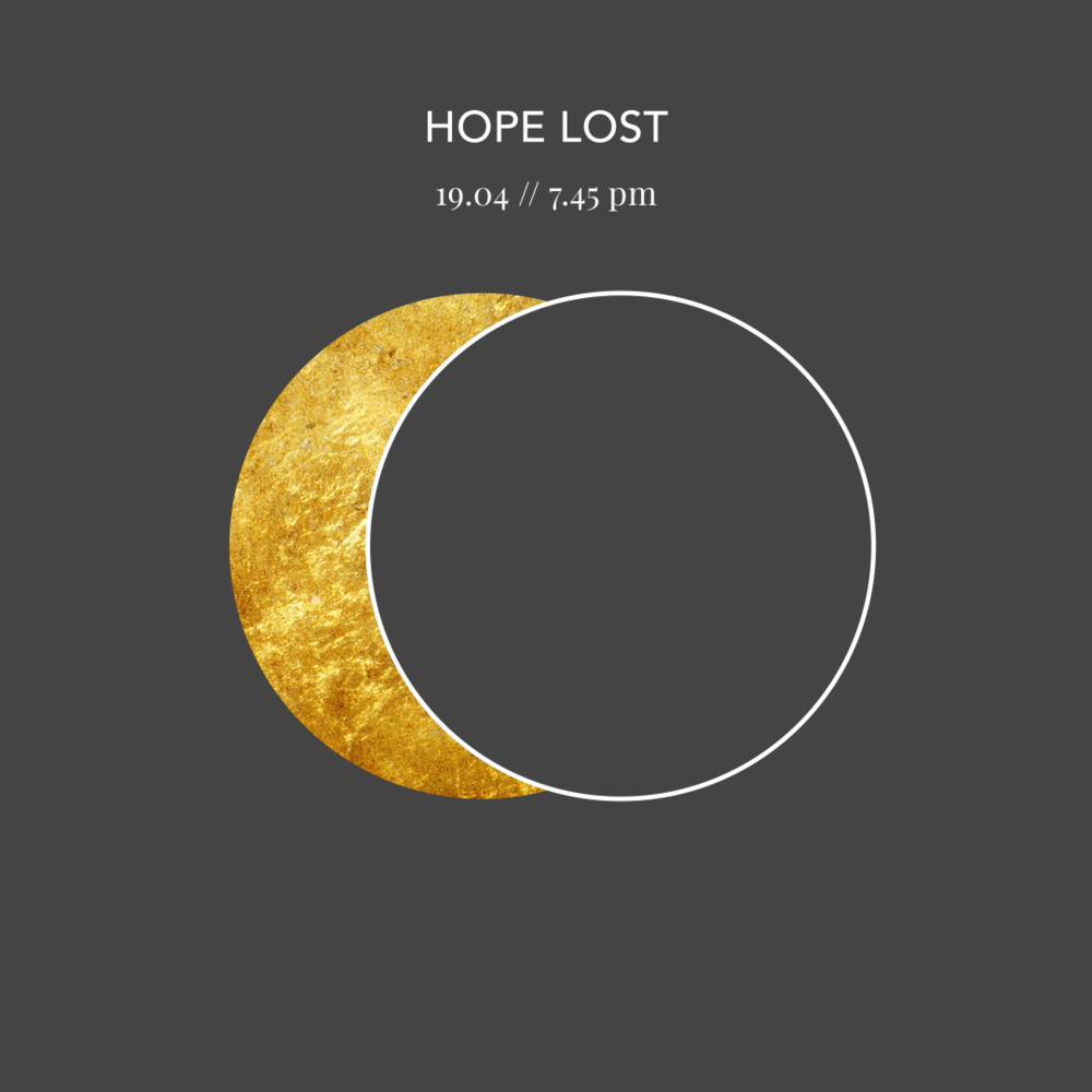 HOPE LOST - GOOD FRIDAY 19.04 // 7:45pm - Journey to the cross as the lights go out. Join us for a service of Tenebrae (Darkness) as we remember Jesus death on the cross, a day when it seemed all hope was lost.
