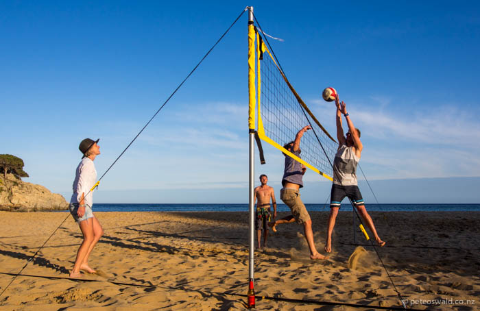 Volleyball on La Fosca beach