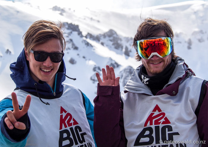 Tom Brownlee and Cam Mcdermid – stoked after their runs