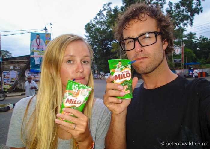 Yeah they got Milo! about 40c for these little gems that we got in Monaragala
