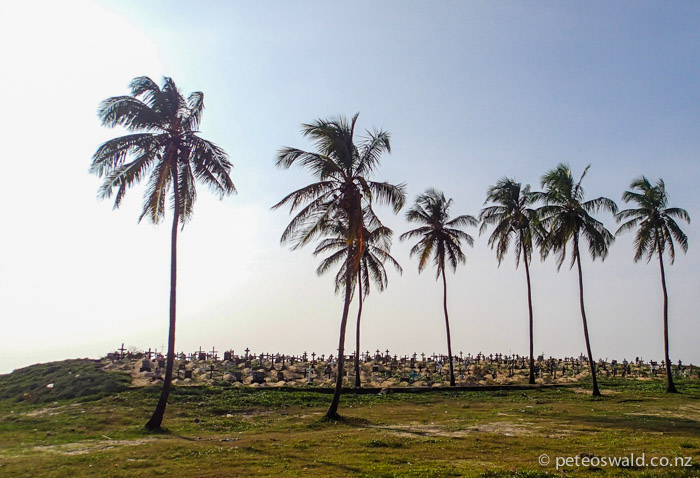 We assumed these to be buried victims of the 2004 Tsunami just south of Negombo