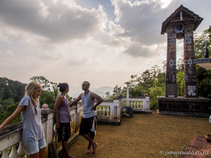 Sunen, Soph and Sunen's girlfriend Ama at the top of Kukuli Vihara
