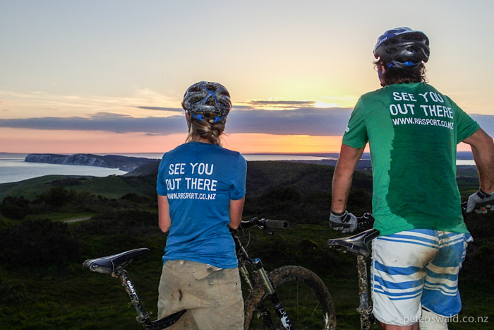Evening mountain bike rides with mint sunsets. Photo: Will Carter