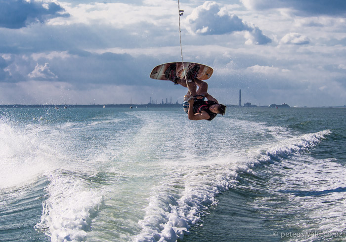 Me attempting a back roll, so close to landing! Photo: Will Oswald