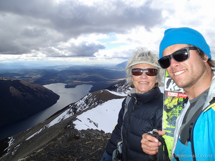 Mum and I on top of Sixone Peak at  Rainbow Ski Area,  Nelson Lakes – my home mountain where I learnt to ski. I had not been there for 12 prior! So good to get back there and what an awesome little hidden gem!