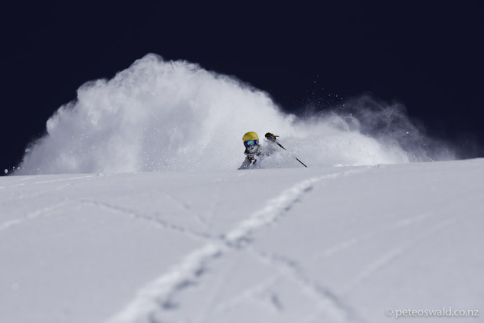 Getting deep at Stubai at 3000m. Photo: Jakob Schweighofer