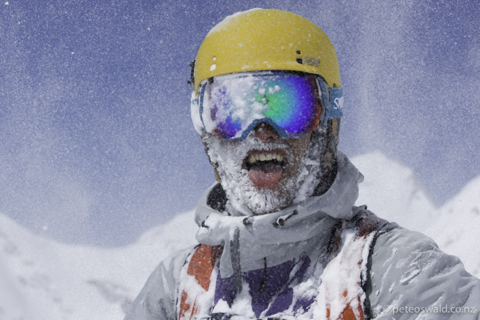 Cold snowy beard – sign of a great day! Photo: Jakob Schweighofer