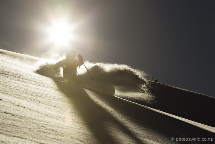 An epic last run in the late sun on a great day. Photo: Jakob Schweighofer