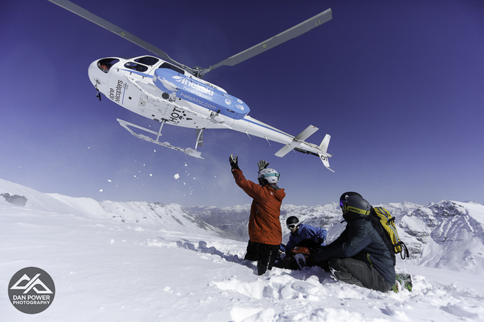 Our bird for a great day heli with Southern Lakes Heli Ski and great guide Michael Shynkaryk. Photo: Dan Power