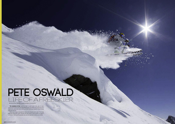 A five page article on freeskiing for NZ Ski and Snow Magazine, click to read. Photo: Jakob Schfwieghhofer