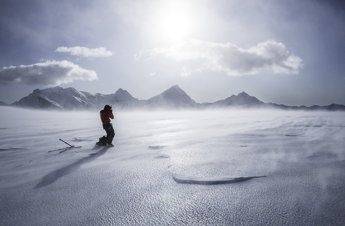 Jakob, snaps some pics of a desolate but beautiful and somehow surreal glacial landscape