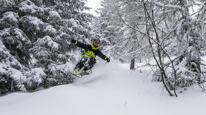 Getting some pow with Neil Williman at Axamer Lizum. Photo: Neil Williman