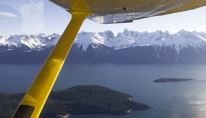 The 6th and final flight in the journey to reach Haines, AK, USA from Innsbruck, Austria. Just the pilot and me in a very small plane