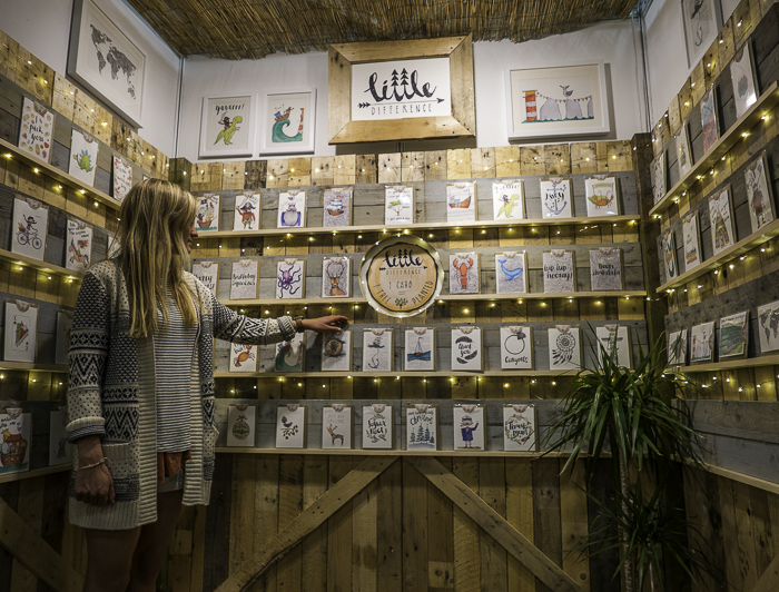 Our  Little Difference  stand at the Progressive Greetings Live greeting card trade show