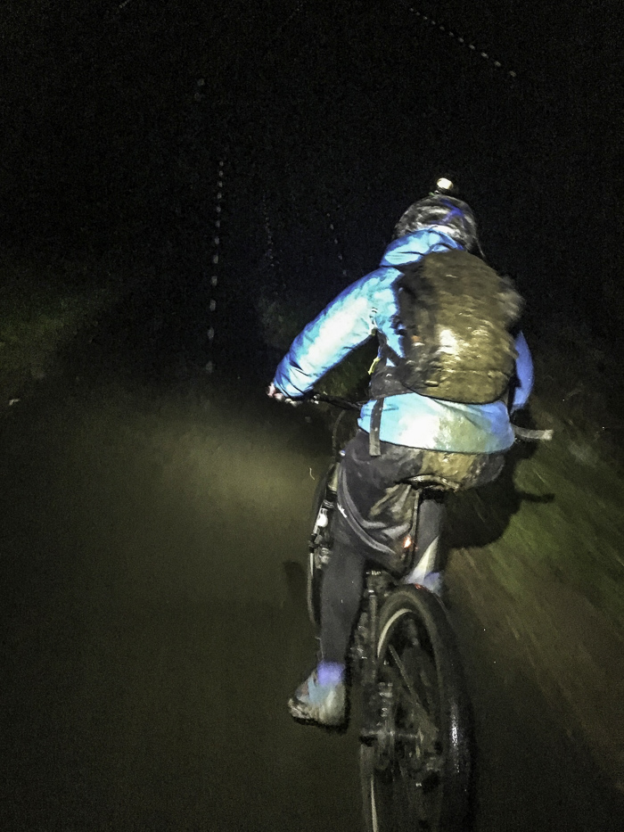 Night ride building up the activities after the head injury