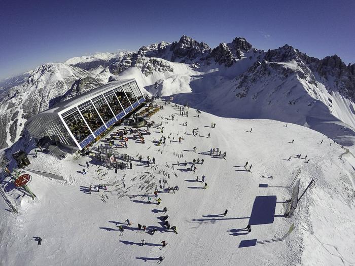 The top of  Axamer Lizum resort shot from my  Hexo+ drone