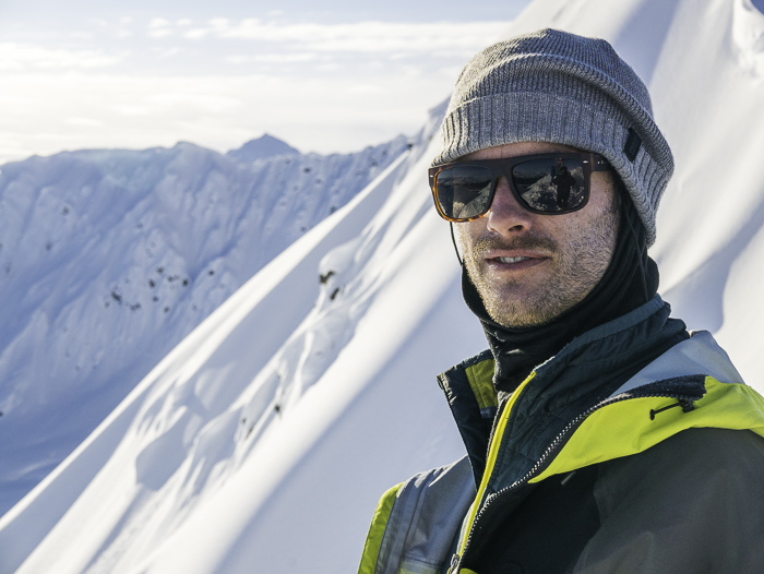 Myself on the top of the venue with some of the epic terrain in the background. Photo: Davide De Masi