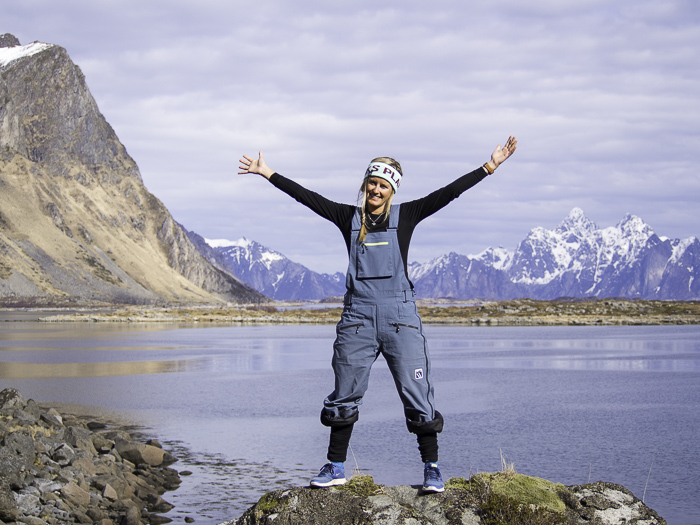 A happy Sophie, after an amazing Norwegian adventuredone and content