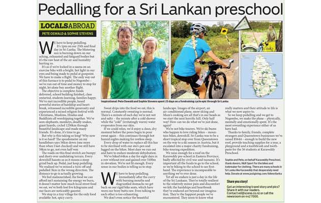 Mountain Scene Newspaper - Sri Lanka Fundraiser