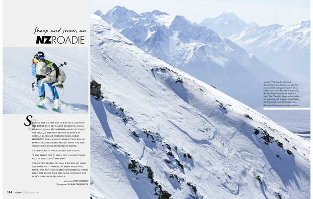 Snow Action Magazine - Sheep & Snow, An NZ Roadie