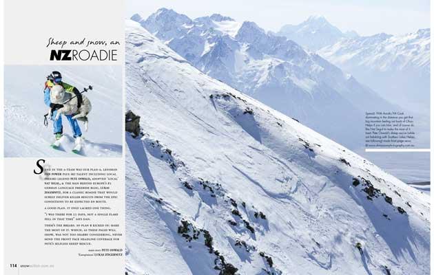 Snow Action Magazine - Sheep & Snow, An NZ Roadie
