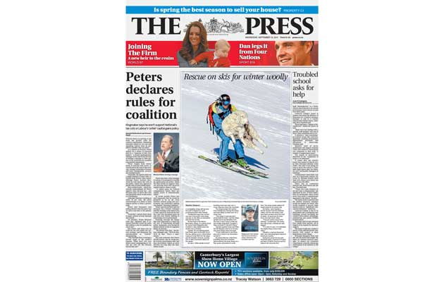 The Press Newspaper - Front Cover