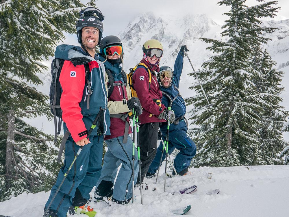 Pete, Soph, Claire & Tom at Mt Baker, Washington. Photo: Pete Oswald
