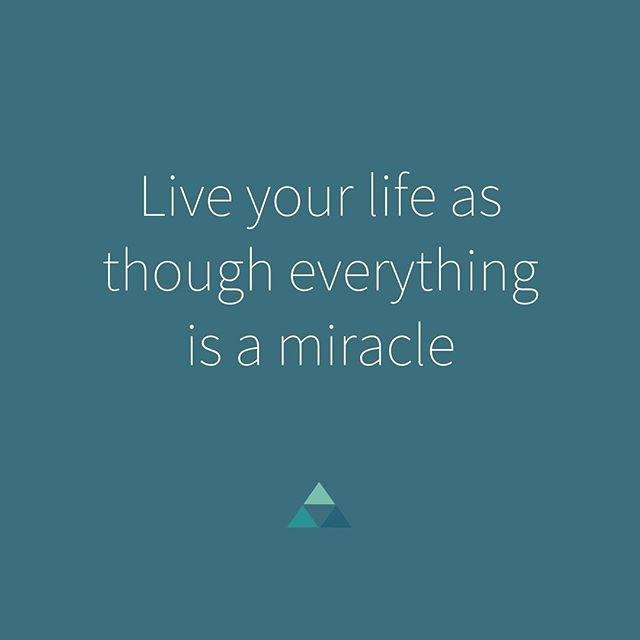 "This is my motto for today. Albert Einstein once said: ""There are only two ways to live your life: as though nothing is a miracle, or as though everything is a miracle."" So today I am choosing to live my life as though everything is a miracle. . #littlethings #yoga #yogateacher #gratitude #miracle #alberteinstein #quotes #perspective #yogi #mindfulness #mindfulmama #wellness #selfcare #livingyoga #consciousliving #motto #dailyaffirmation #grateful"