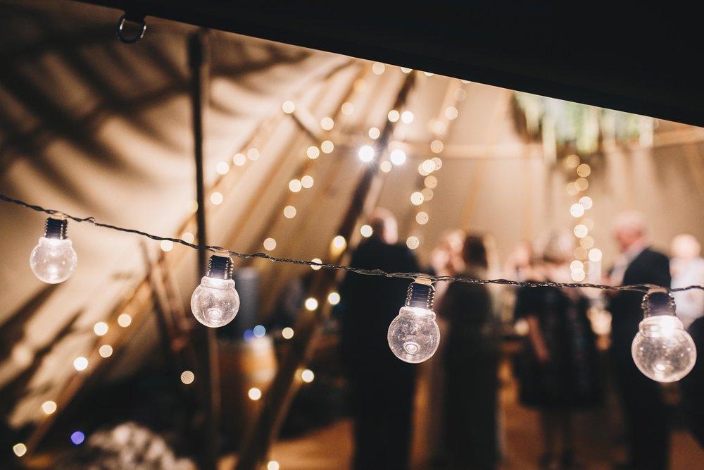 Warm festoon lights