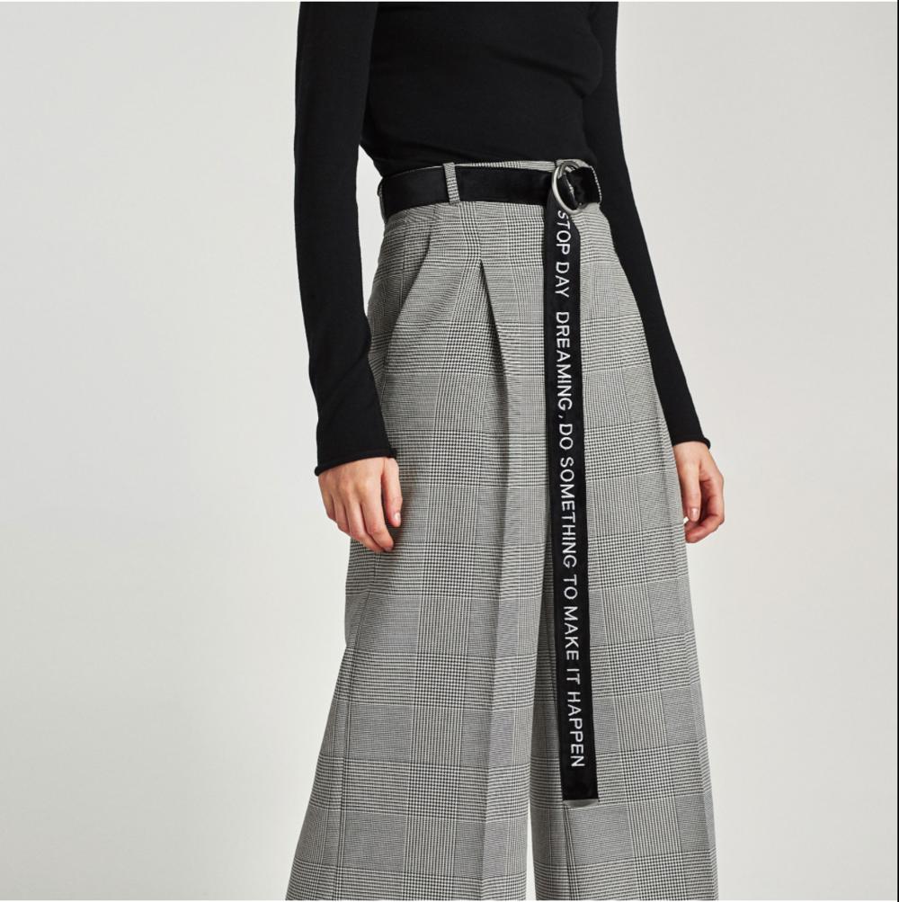 Zara, Extra Long Belt with Slogan, $22.90