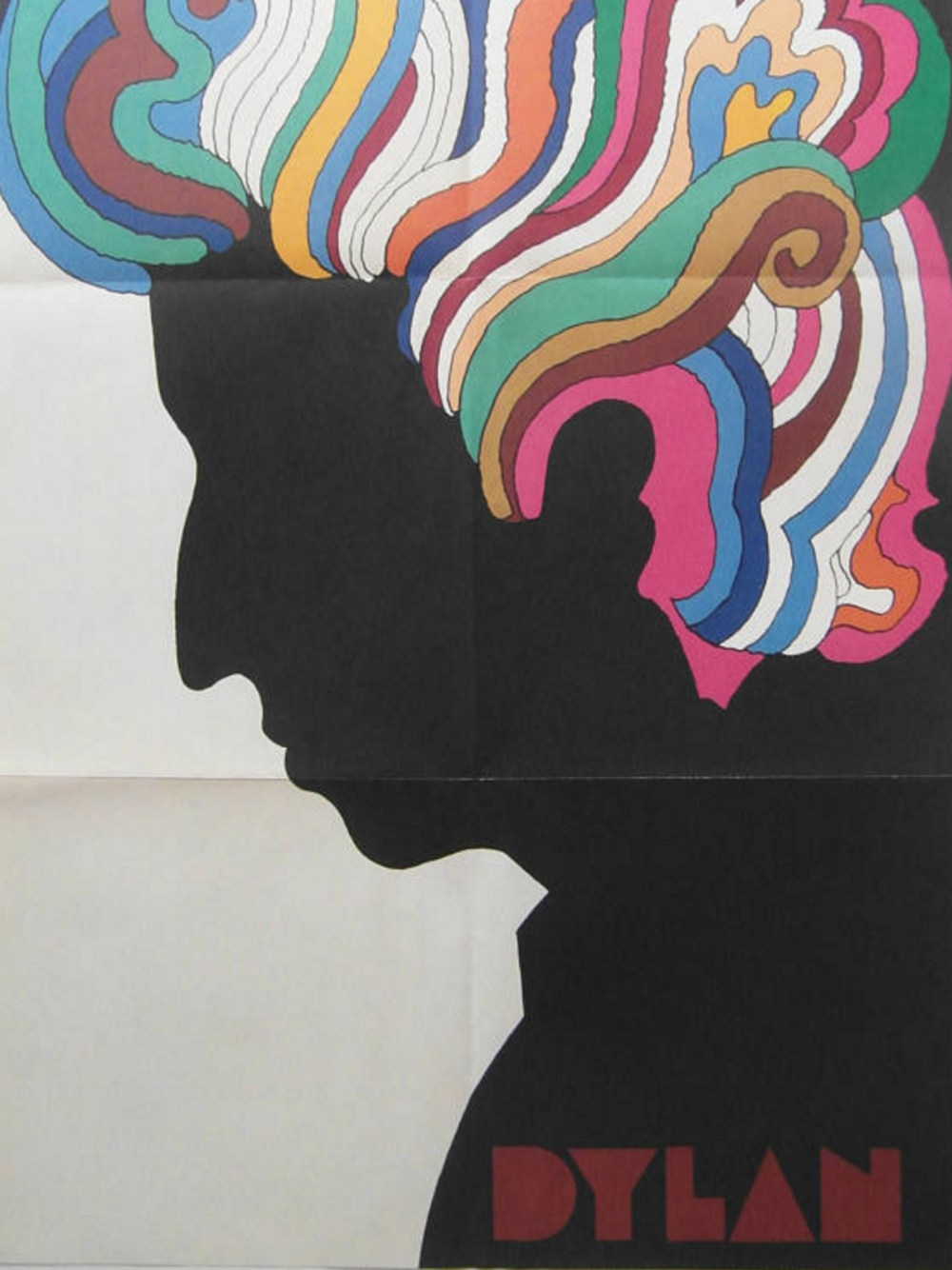 Original 1966 First Printing Bob Dylan Poster by Milton Glaser