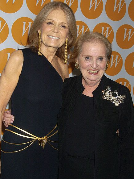 Gloria Steinem and Medeleine Albright, yahoo.com