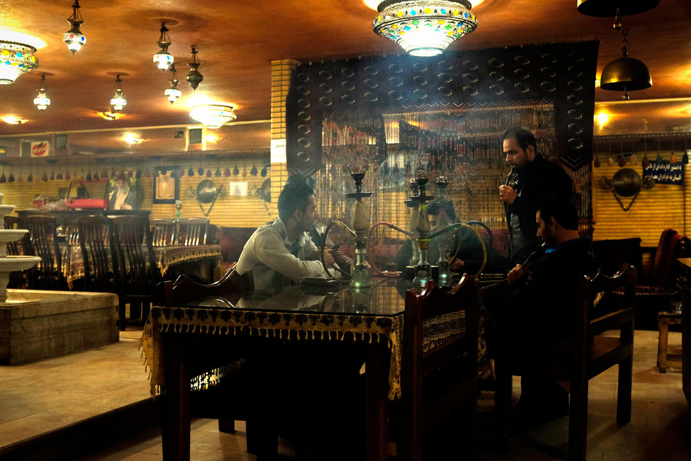 Qalyan (flavoured tobacco) has officially been banned in the Esfahan provence, but there are many teahouses that still sell the flavoured tobacco quite freely. These teahouses serve as a common place for men to gather and relax together.