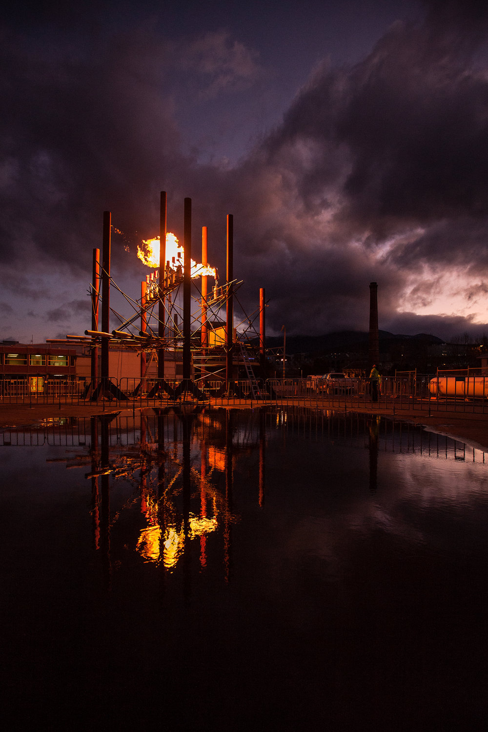 Fire Organ  Bastiaan Maris  Commissioned for Dark Mofo, 2015