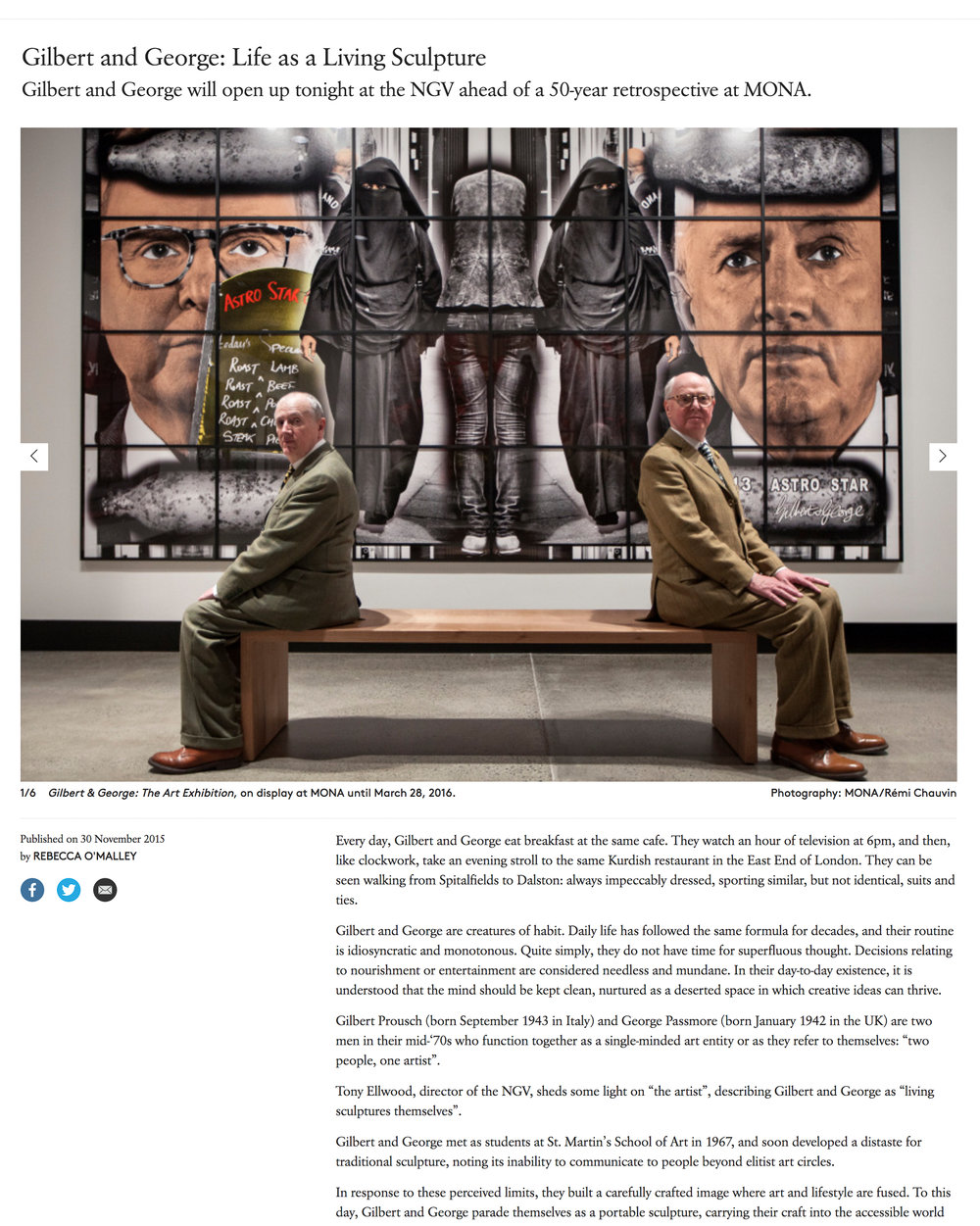 Gilbert & George - Broadsheet