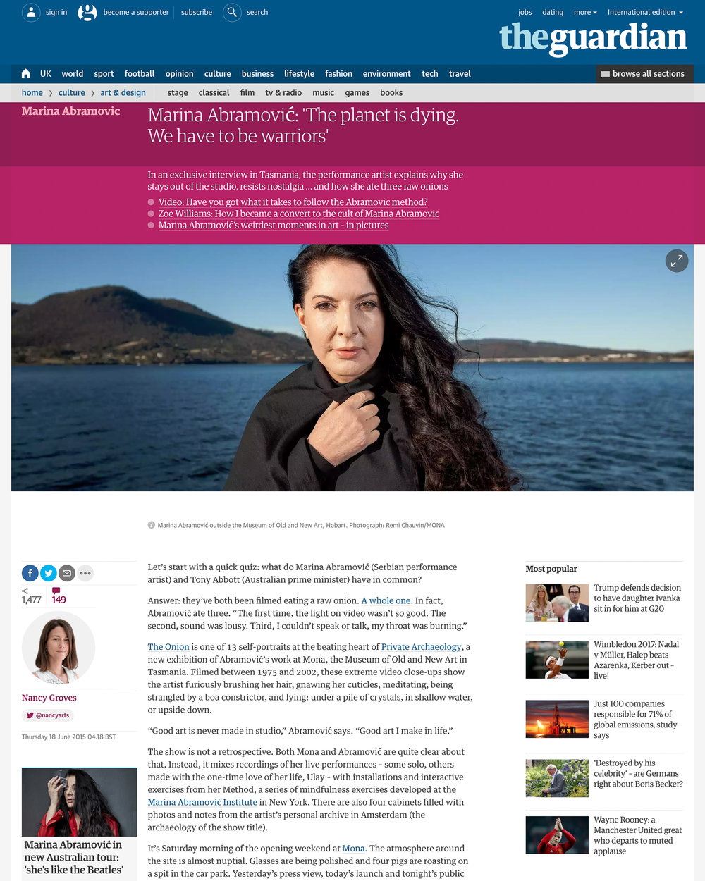 Marina Abramović - The Guardian